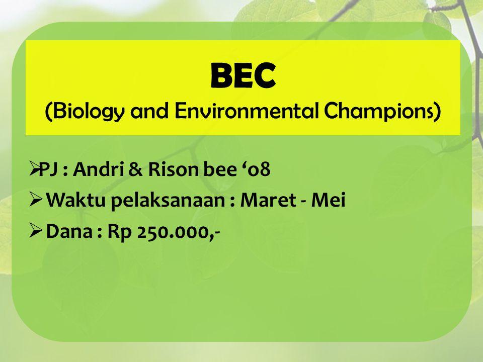 (Biology and Environmental Champions)