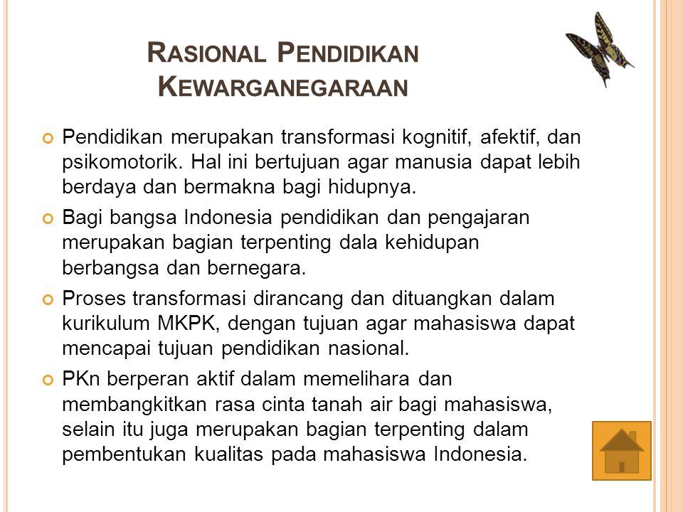 Rasional Pendidikan Kewarganegaraan