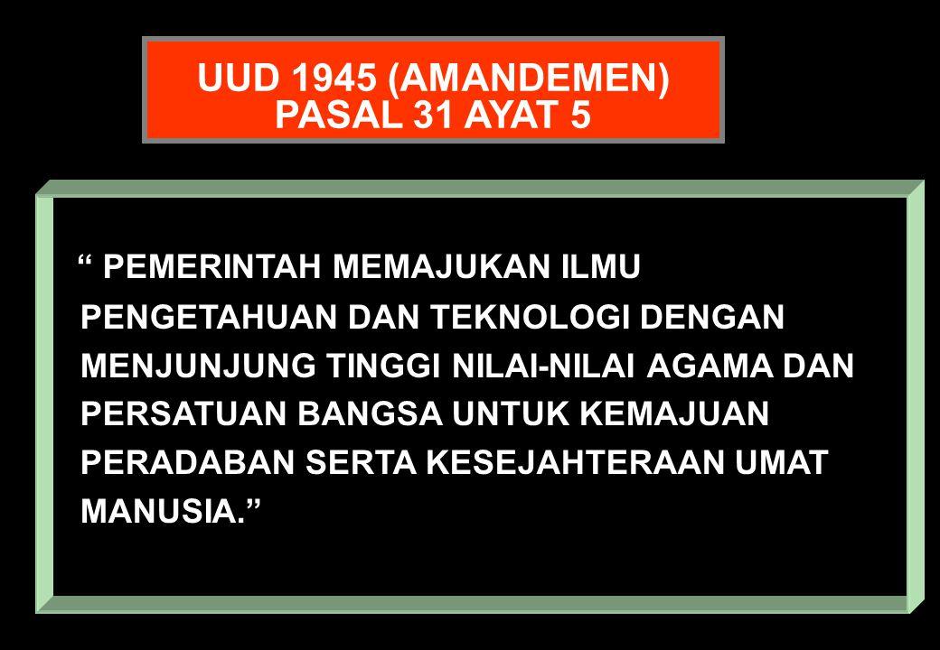 UUD 1945 (AMANDEMEN) PASAL 31 AYAT 5.