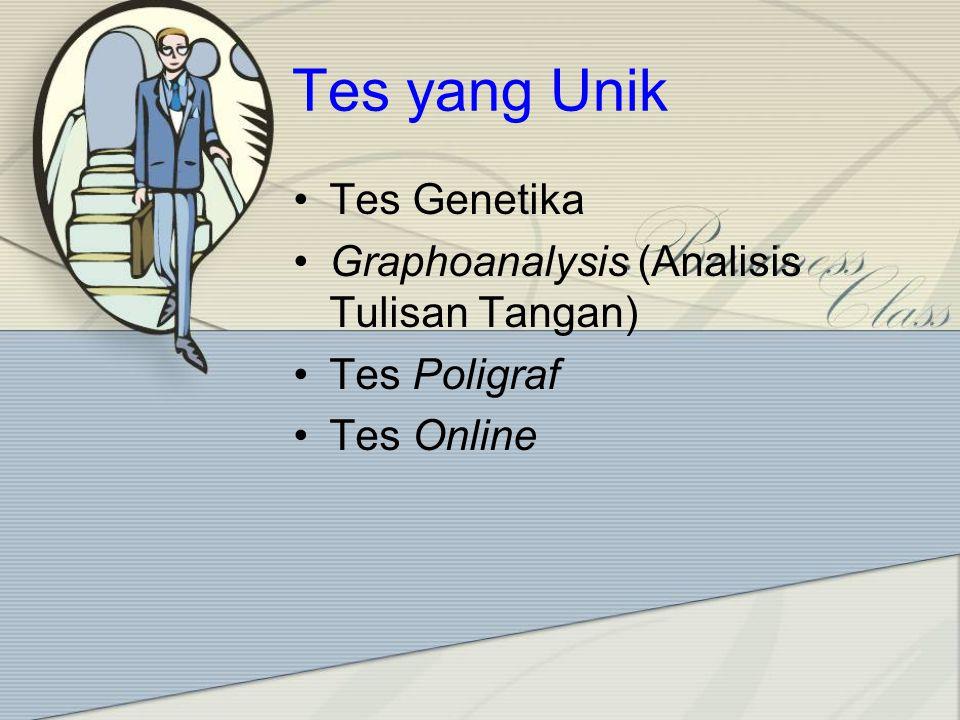 Tes yang Unik Tes Genetika Graphoanalysis (Analisis Tulisan Tangan)