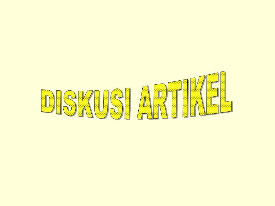 DISKUSI ARTIKEL