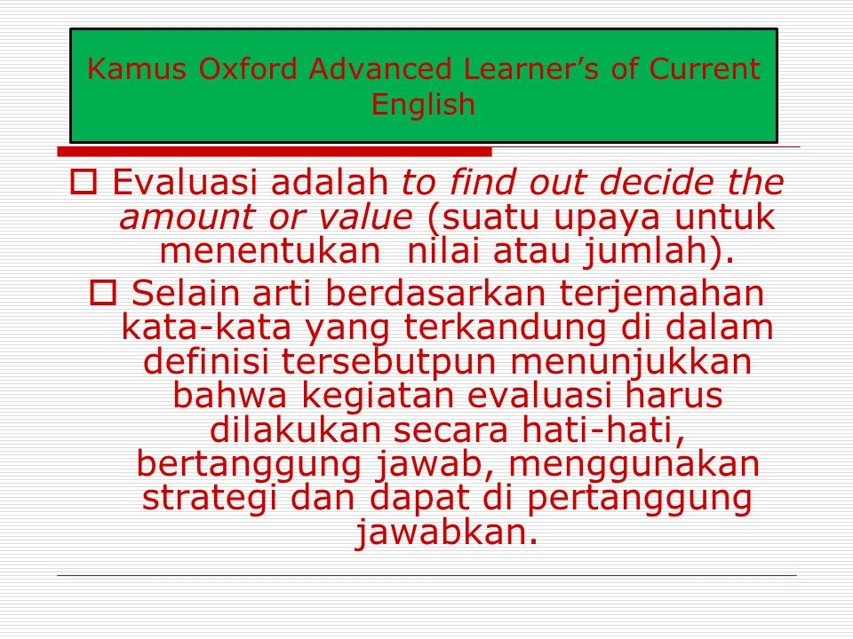 Kamus Oxford Advanced Learner's of Current English