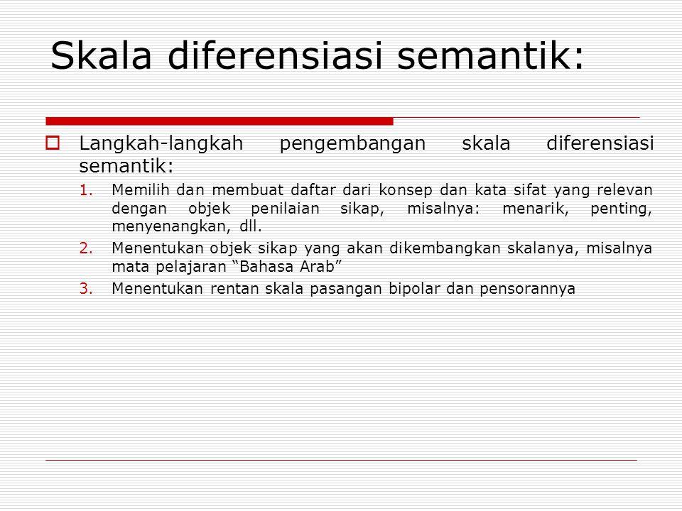 Skala diferensiasi semantik: