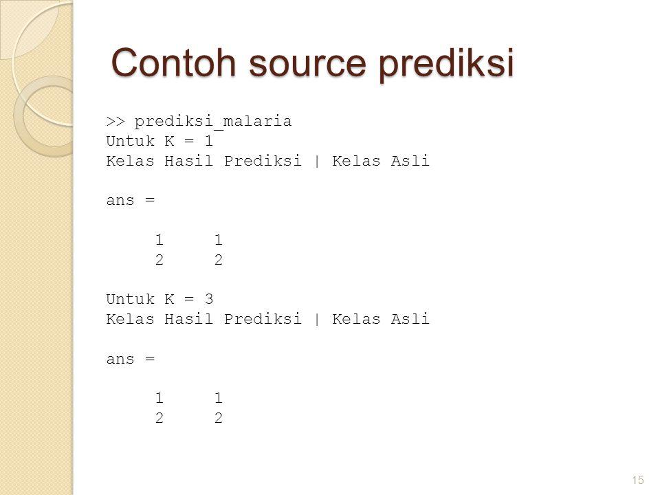Contoh source prediksi