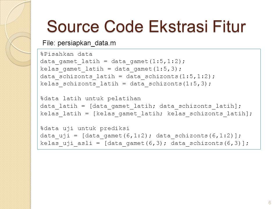 Source Code Ekstrasi Fitur