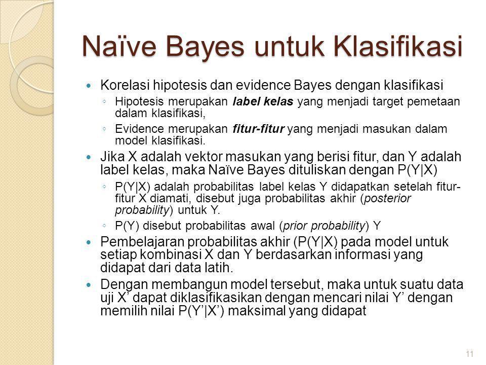 Naïve Bayes untuk Klasifikasi