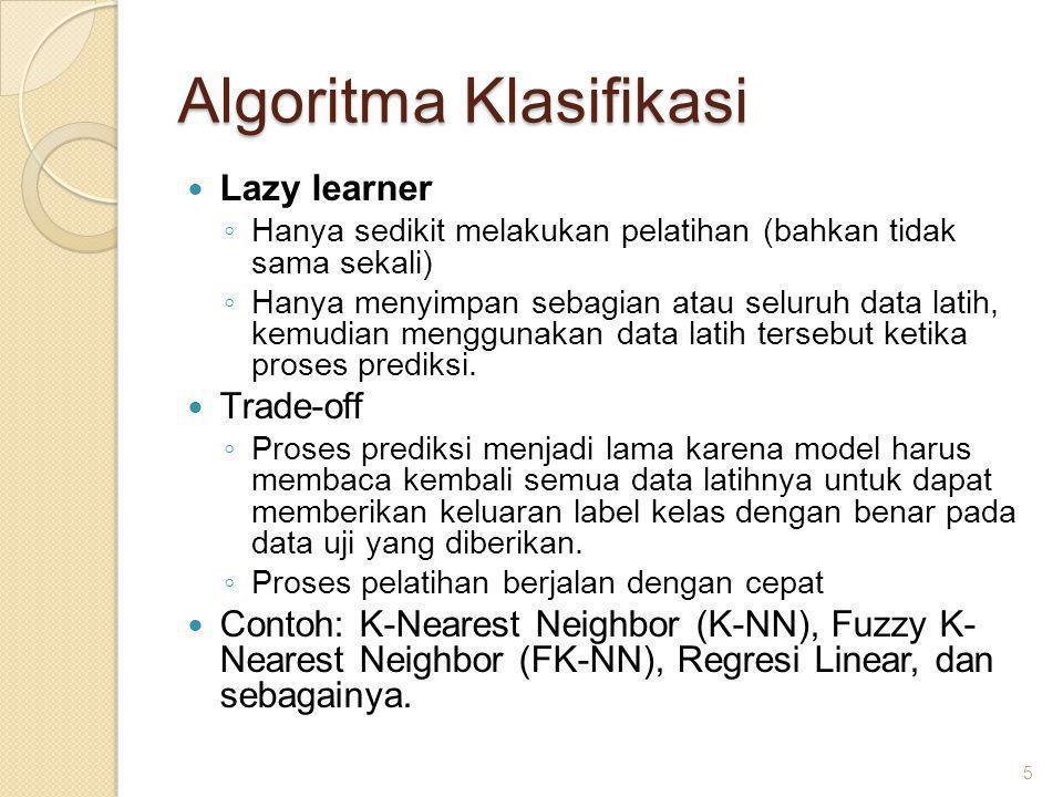 Algoritma Klasifikasi