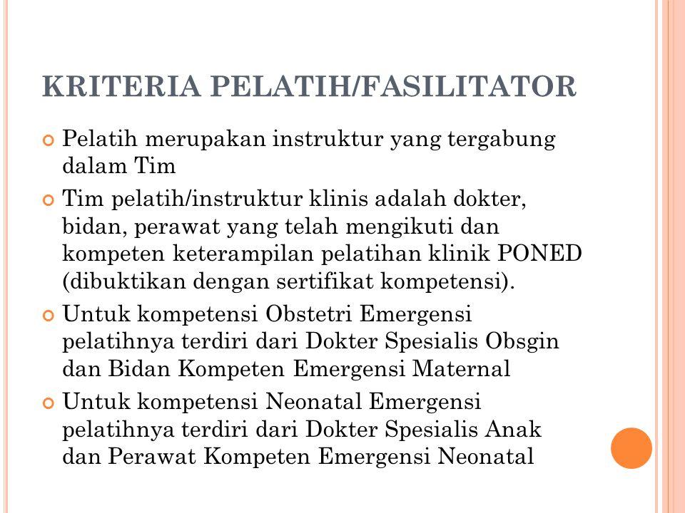 KRITERIA PELATIH/FASILITATOR