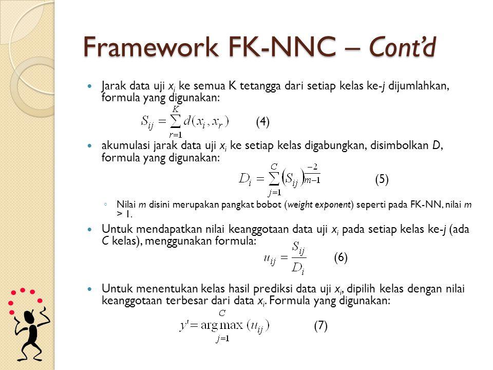 Framework FK-NNC – Cont'd