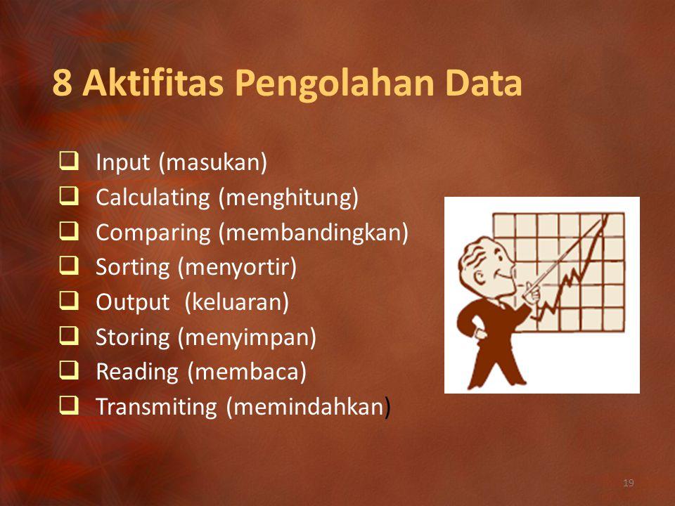 8 Aktifitas Pengolahan Data