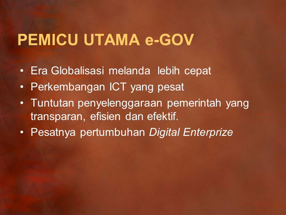 PEMICU UTAMA e-GOV Era Globalisasi melanda lebih cepat