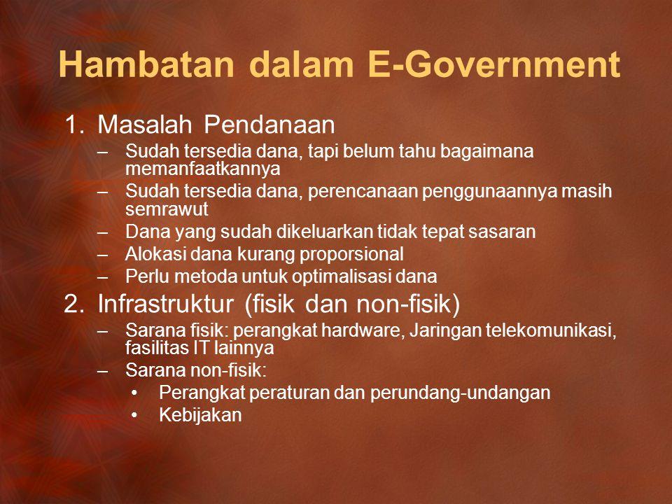 Hambatan dalam E‑Government