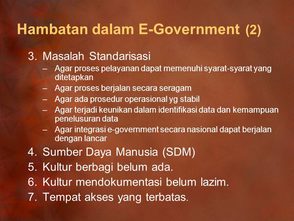 Hambatan dalam E‑Government (2)