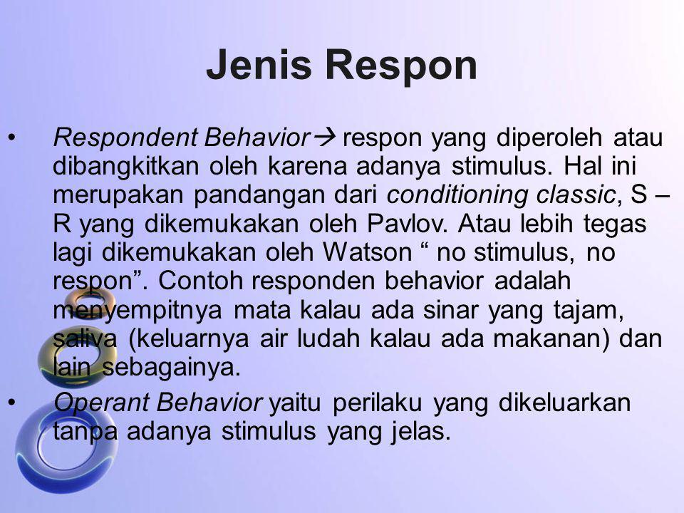 Jenis Respon