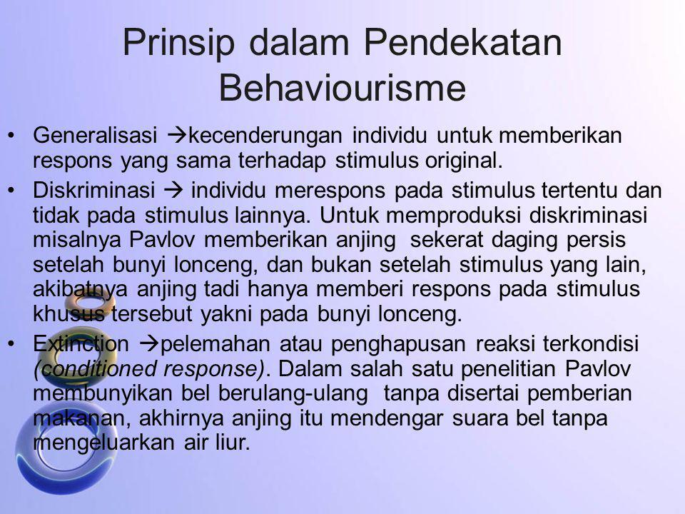 Prinsip dalam Pendekatan Behaviourisme