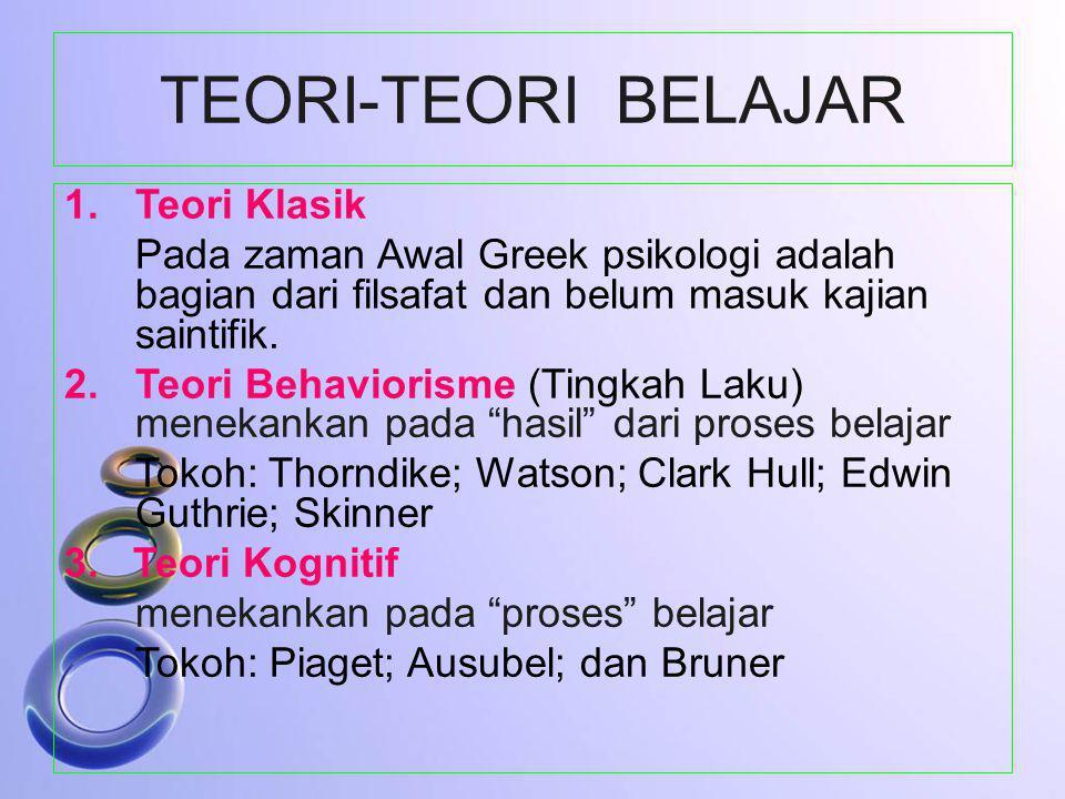 TEORI-TEORI BELAJAR Teori Klasik