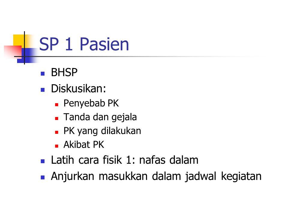 SP 1 Pasien BHSP Diskusikan: Latih cara fisik 1: nafas dalam