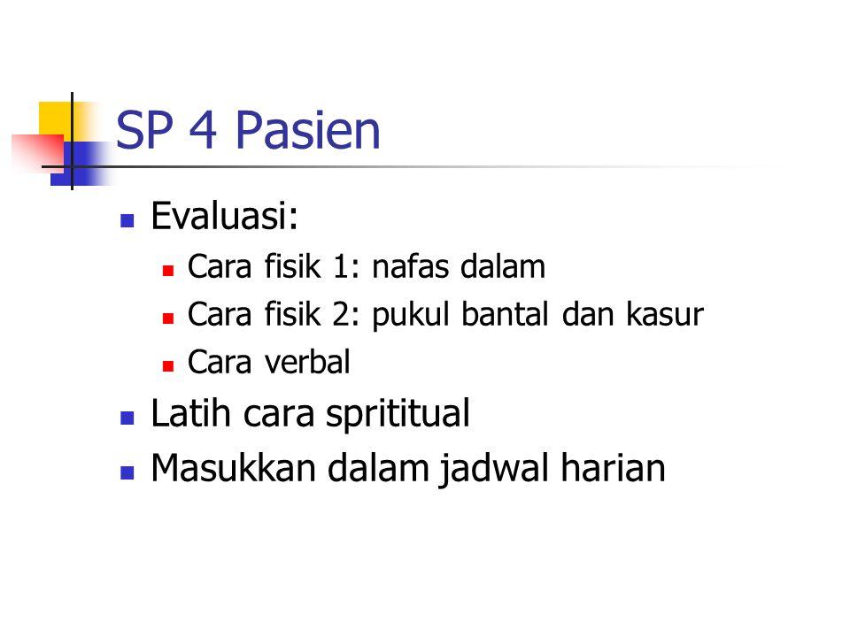 SP 4 Pasien Evaluasi: Latih cara sprititual