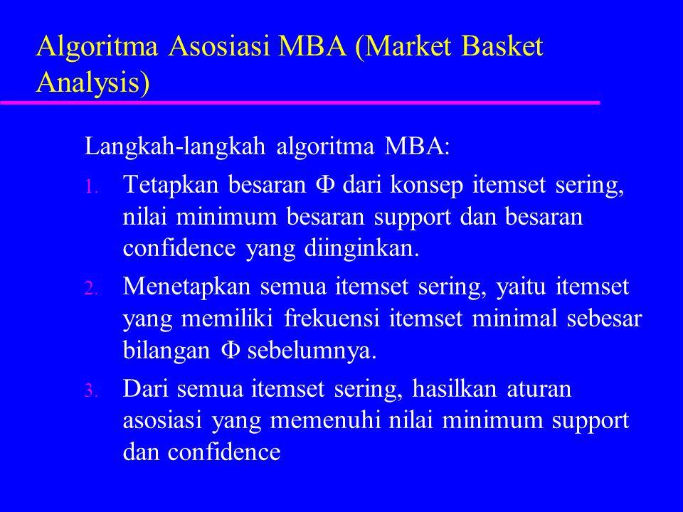 Algoritma Asosiasi MBA (Market Basket Analysis)