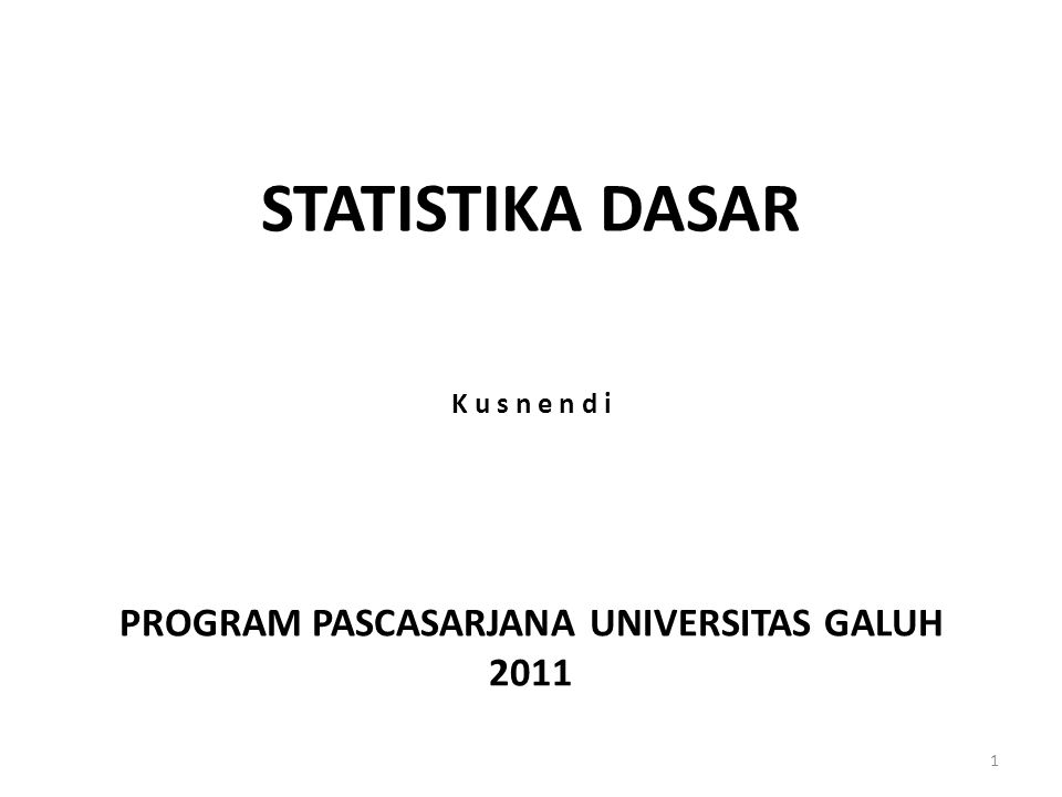 PROGRAM PASCASARJANA UNIVERSITAS GALUH