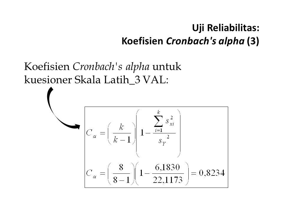 Uji Reliabilitas: Koefisien Cronbach s alpha (3)