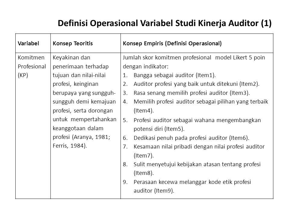 Definisi Operasional Variabel Studi Kinerja Auditor (1)