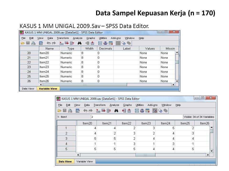 Data Sampel Kepuasan Kerja (n = 170)