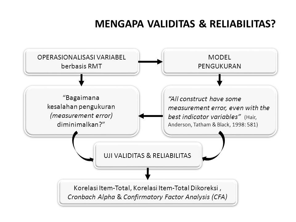 MENGAPA VALIDITAS & RELIABILITAS