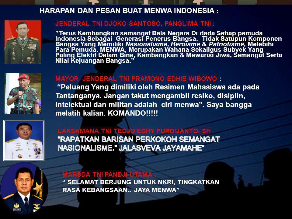 HARAPAN DAN PESAN BUAT MENWA INDONESIA :