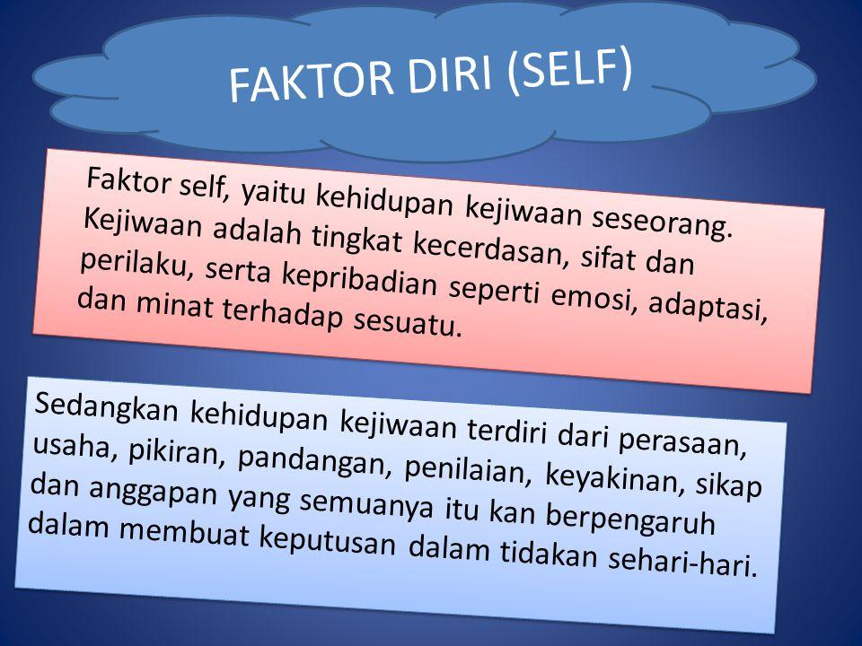 FAKTOR DIRI (SELF)