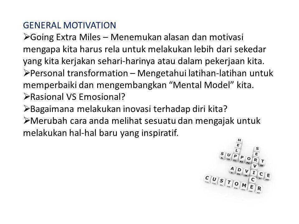 GENERAL MOTIVATION