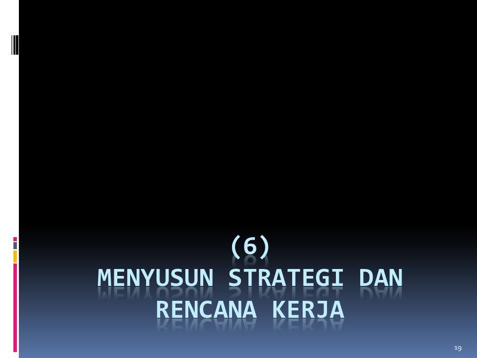 (6) MENYUSUN STRATEGI DAN RENCANA KERJA