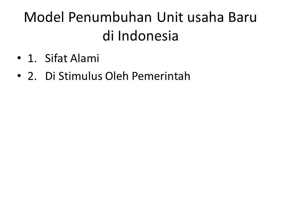 Model Penumbuhan Unit usaha Baru di Indonesia