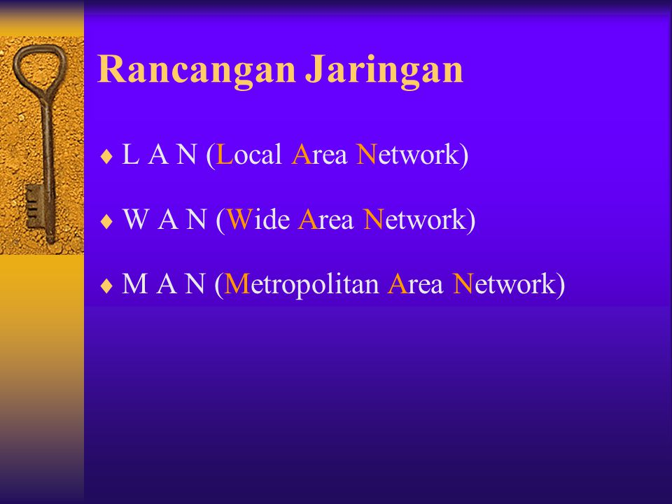Rancangan Jaringan L A N (Local Area Network)