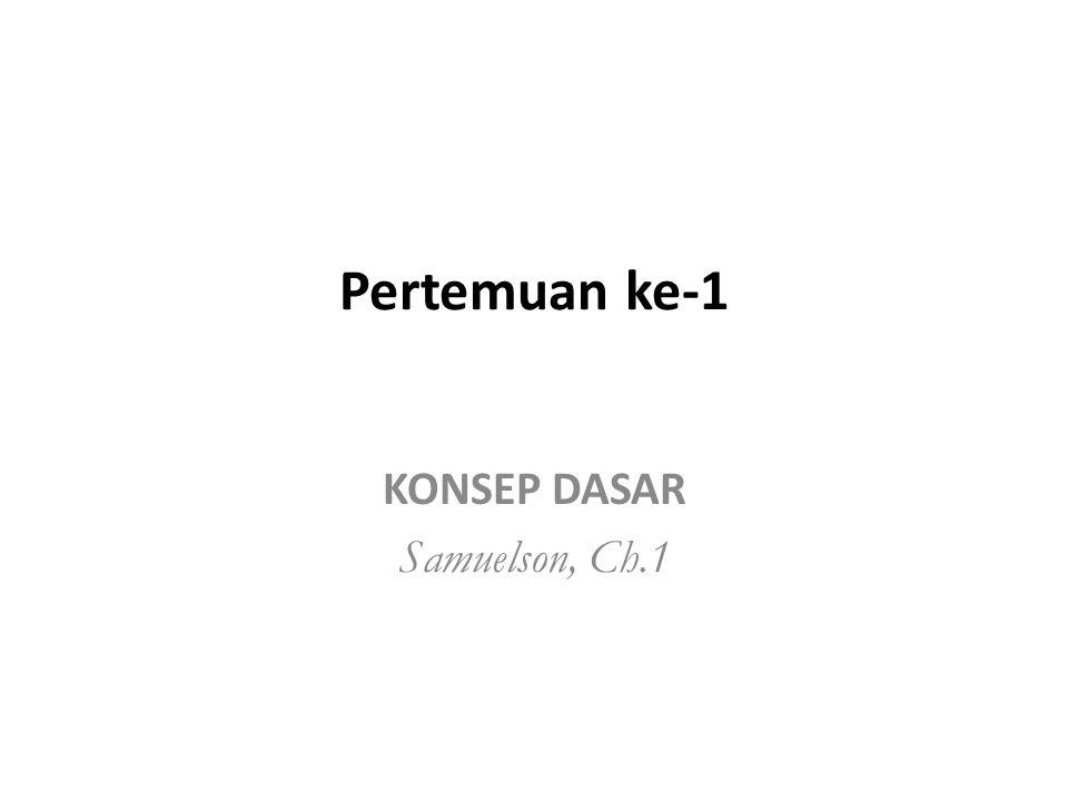 KONSEP DASAR Samuelson, Ch.1