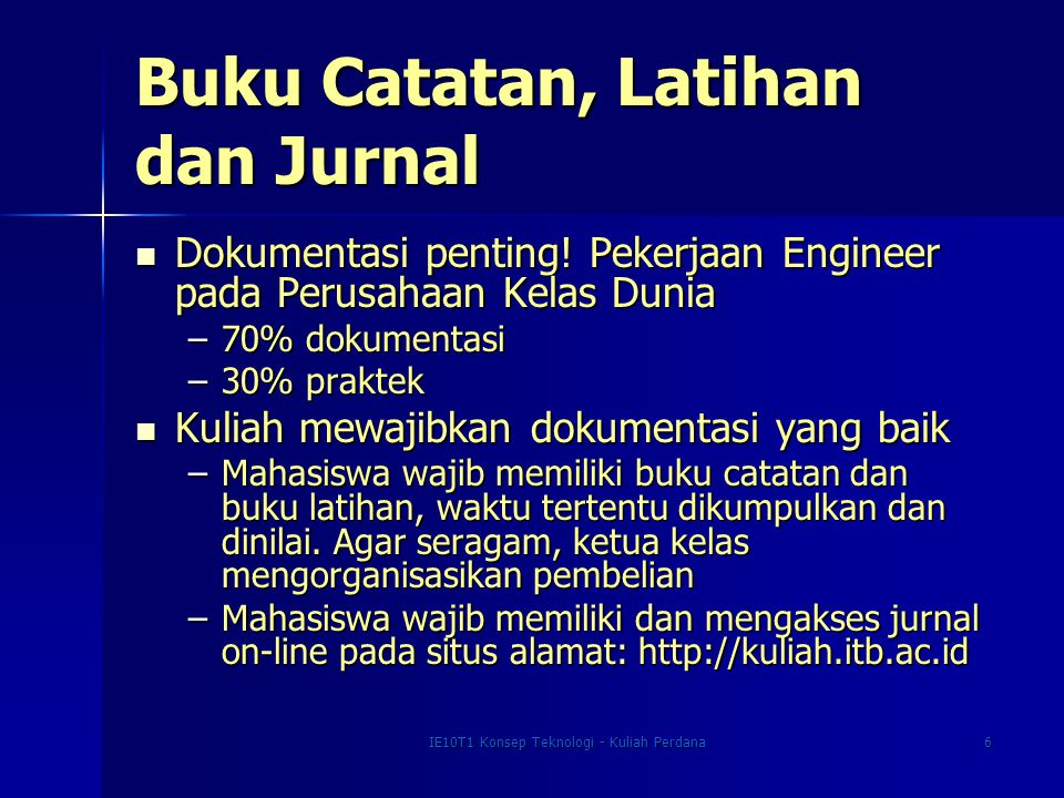 Buku Catatan, Latihan dan Jurnal