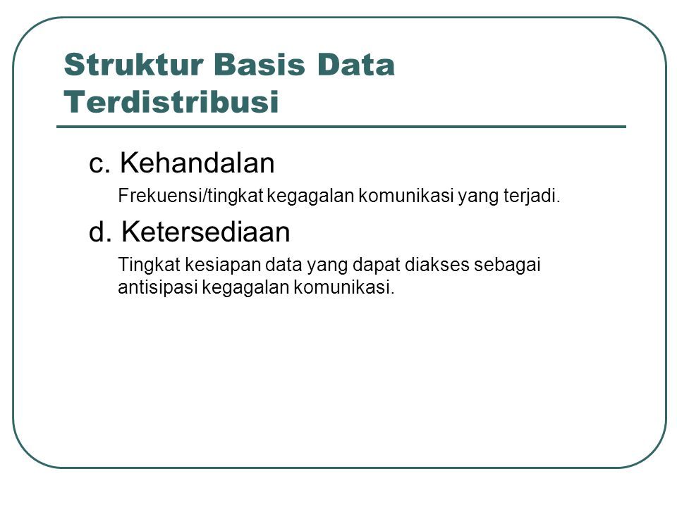 Struktur Basis Data Terdistribusi