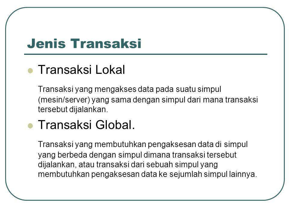 Jenis Transaksi Transaksi Lokal