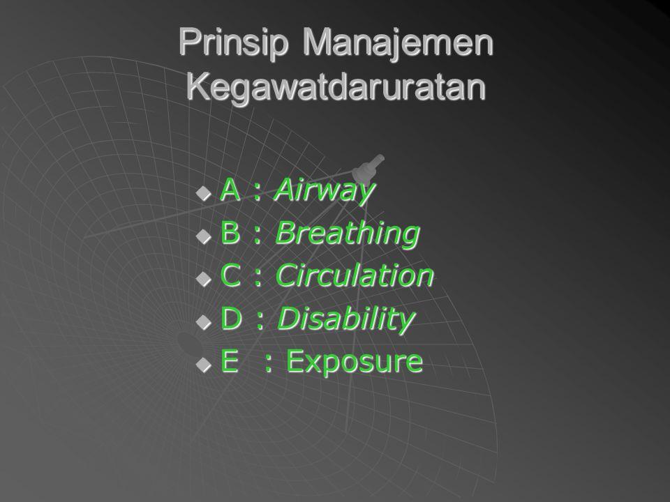 Prinsip Manajemen Kegawatdaruratan