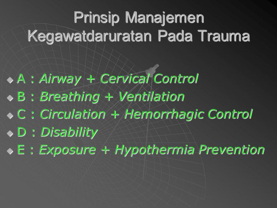 Prinsip Manajemen Kegawatdaruratan Pada Trauma