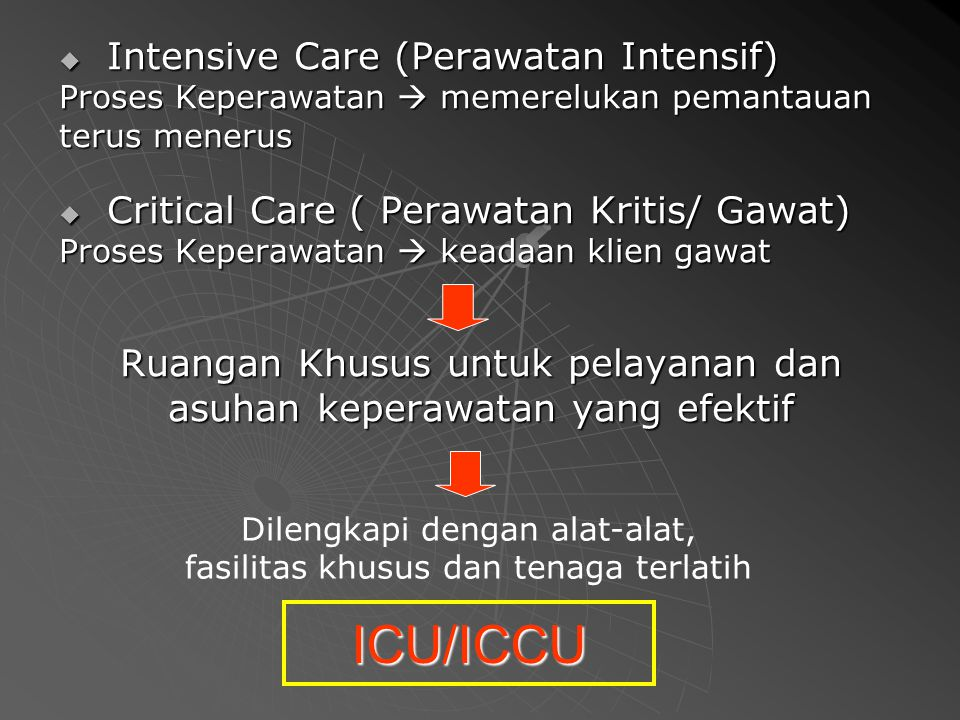 ICU/ICCU Intensive Care (Perawatan Intensif)