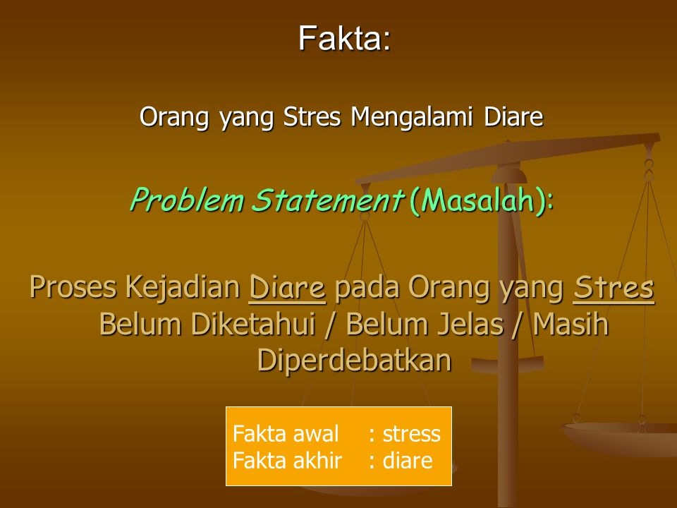 Fakta: Problem Statement (Masalah):