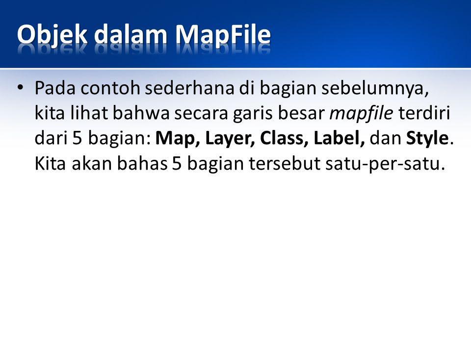 Objek dalam MapFile