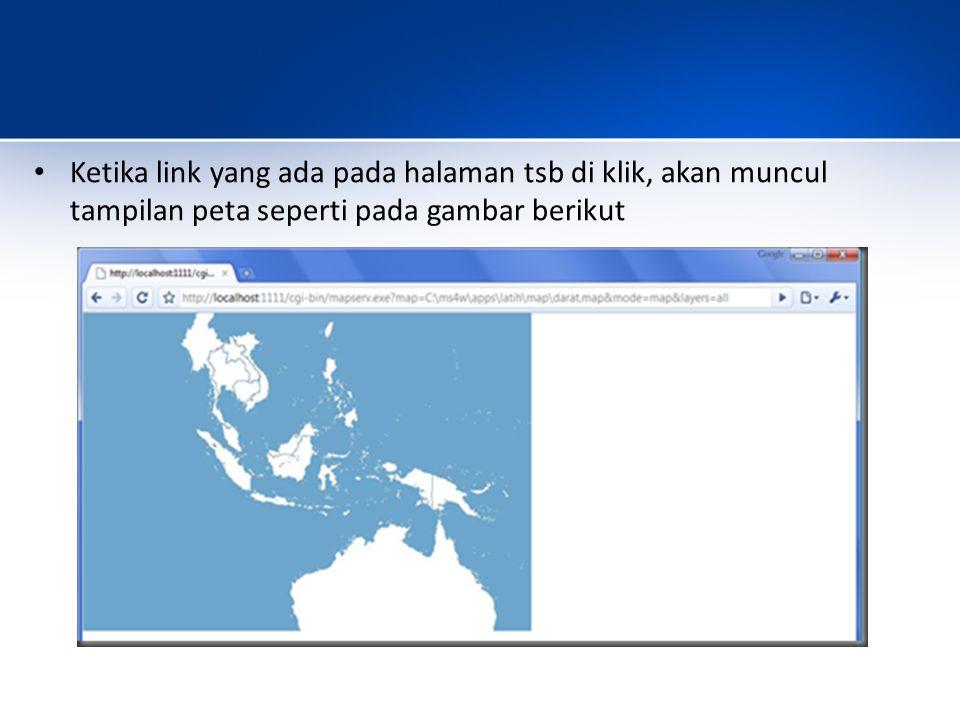 Ketika link yang ada pada halaman tsb di klik, akan muncul tampilan peta seperti pada gambar berikut