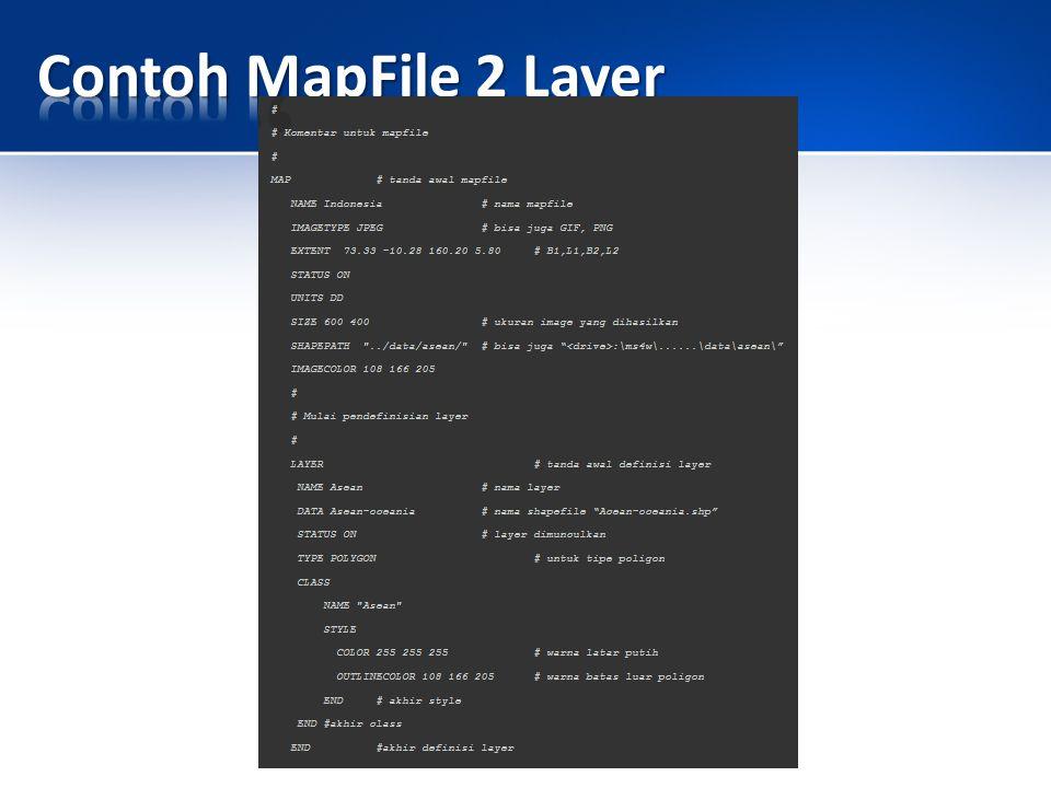 Contoh MapFile 2 Layer