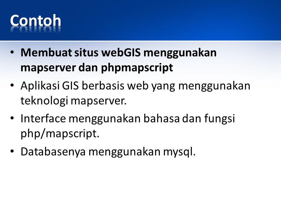 Contoh Membuat situs webGIS menggunakan mapserver dan phpmapscript