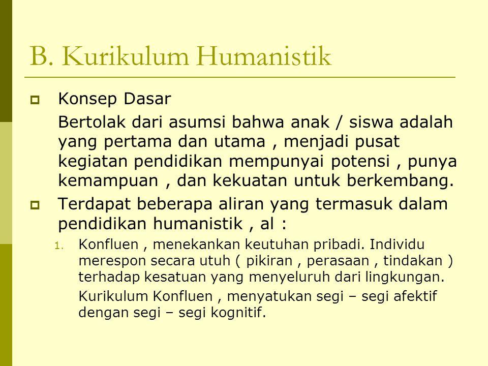 B. Kurikulum Humanistik