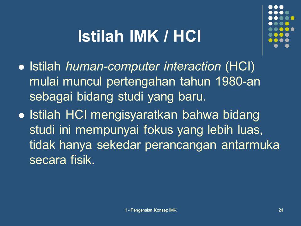 1 - Pengenalan Konsep IMK