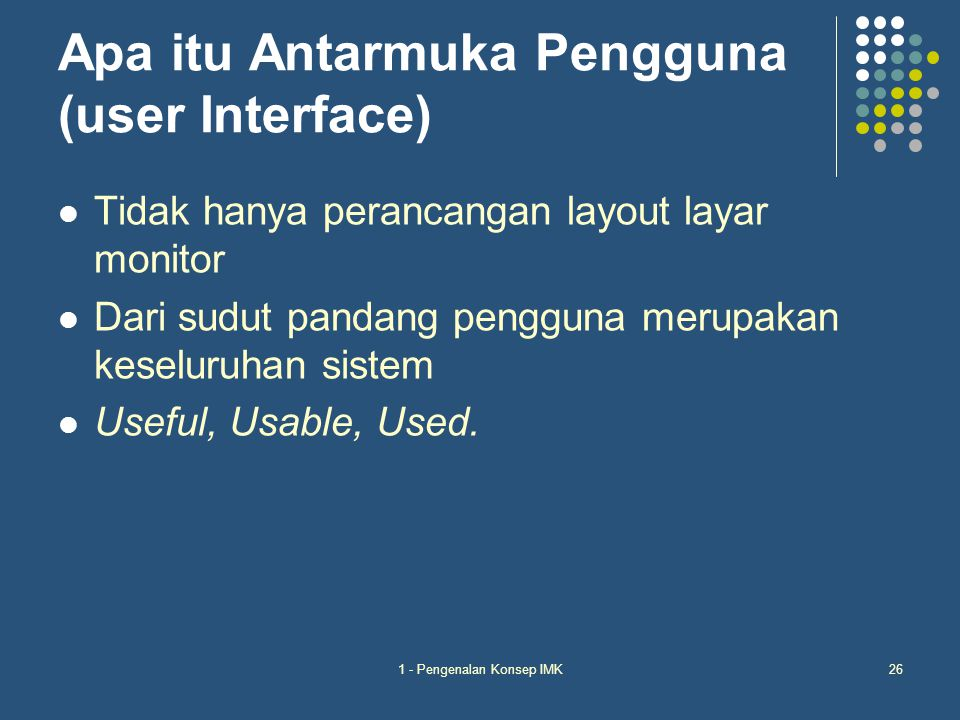 Apa itu Antarmuka Pengguna (user Interface)