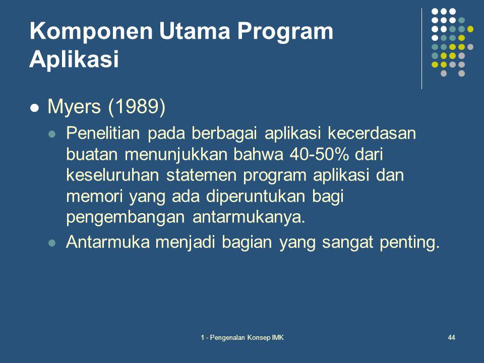 Komponen Utama Program Aplikasi